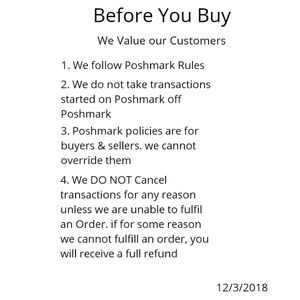 Please Read Before you Buy